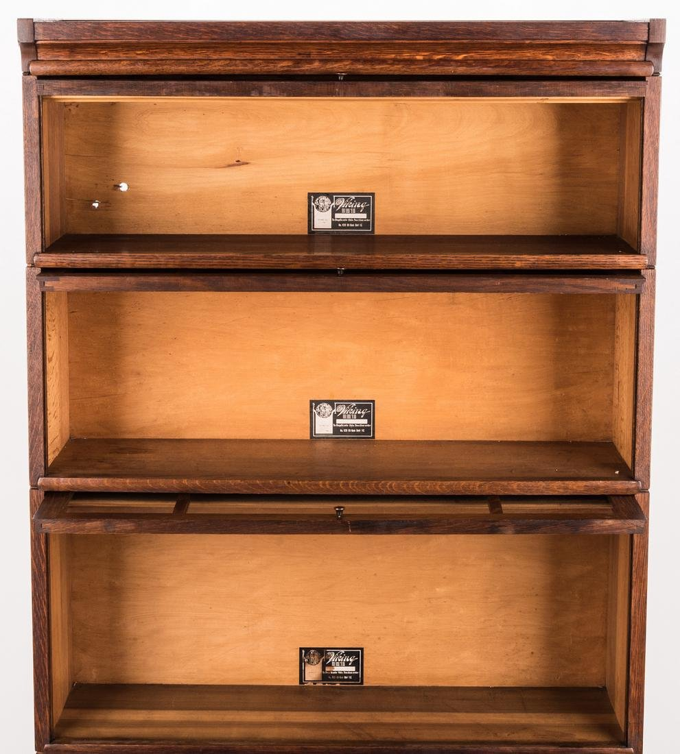 Viking 4-Stack Oak Sectional Bookcase - 2