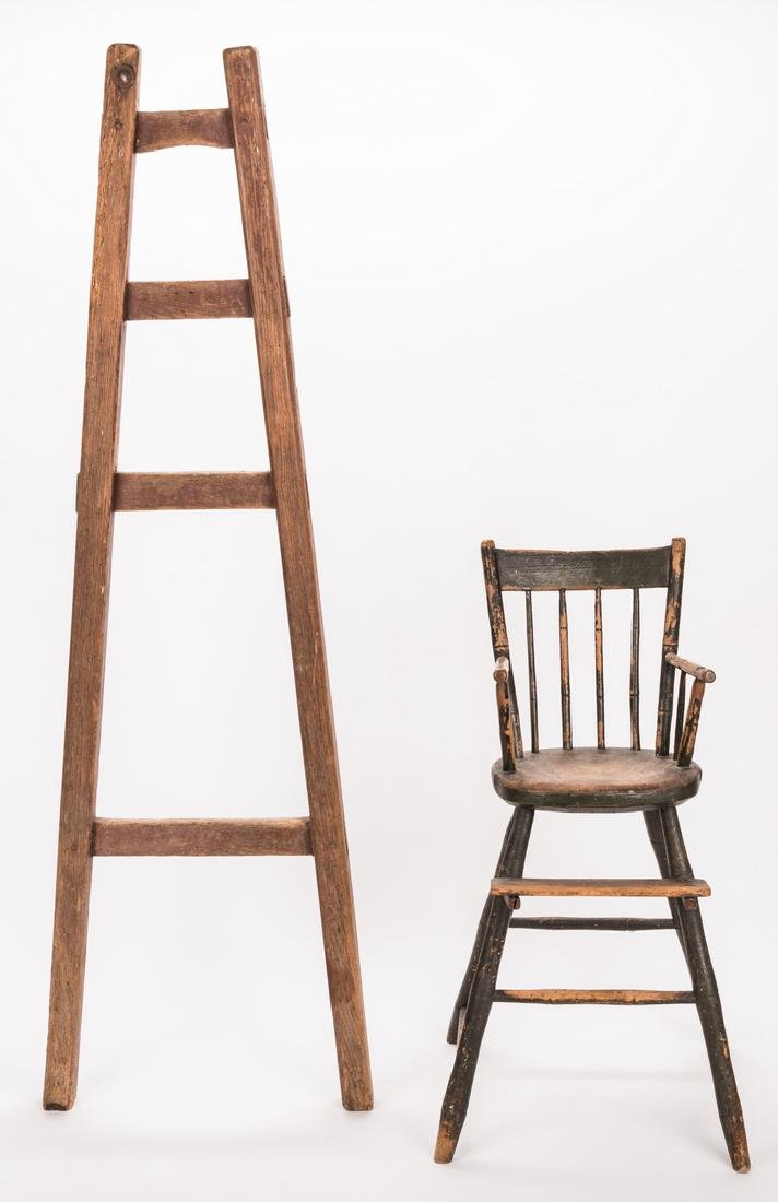 Southern Painted Chair & Ladder