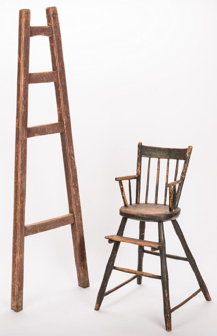 Southern Painted Chair & Ladder - 2