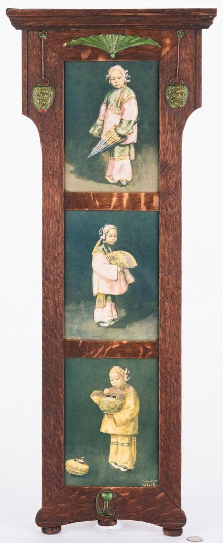 Arts & Crafts Frame with Asian prints