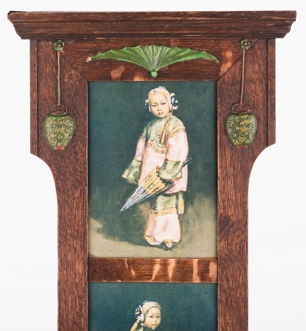 Arts & Crafts Frame with Asian prints - 2