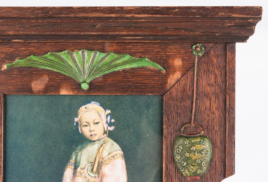 Arts & Crafts Frame with Asian prints - 5
