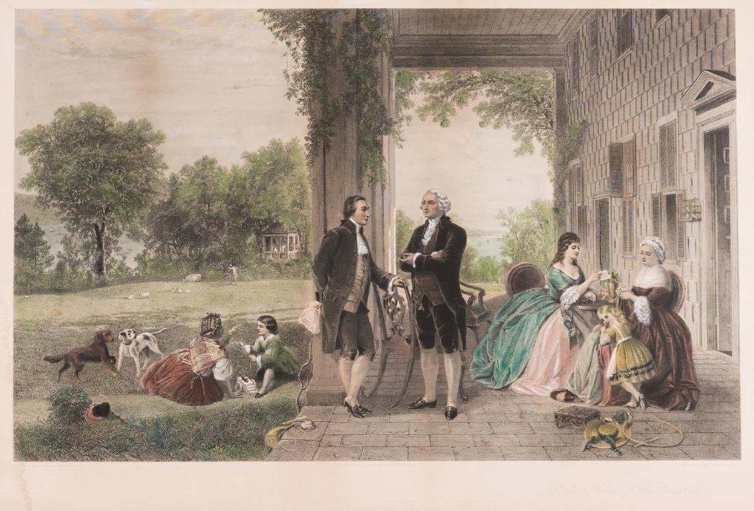 George Washington & Lafayette Colored Lithograph - 2