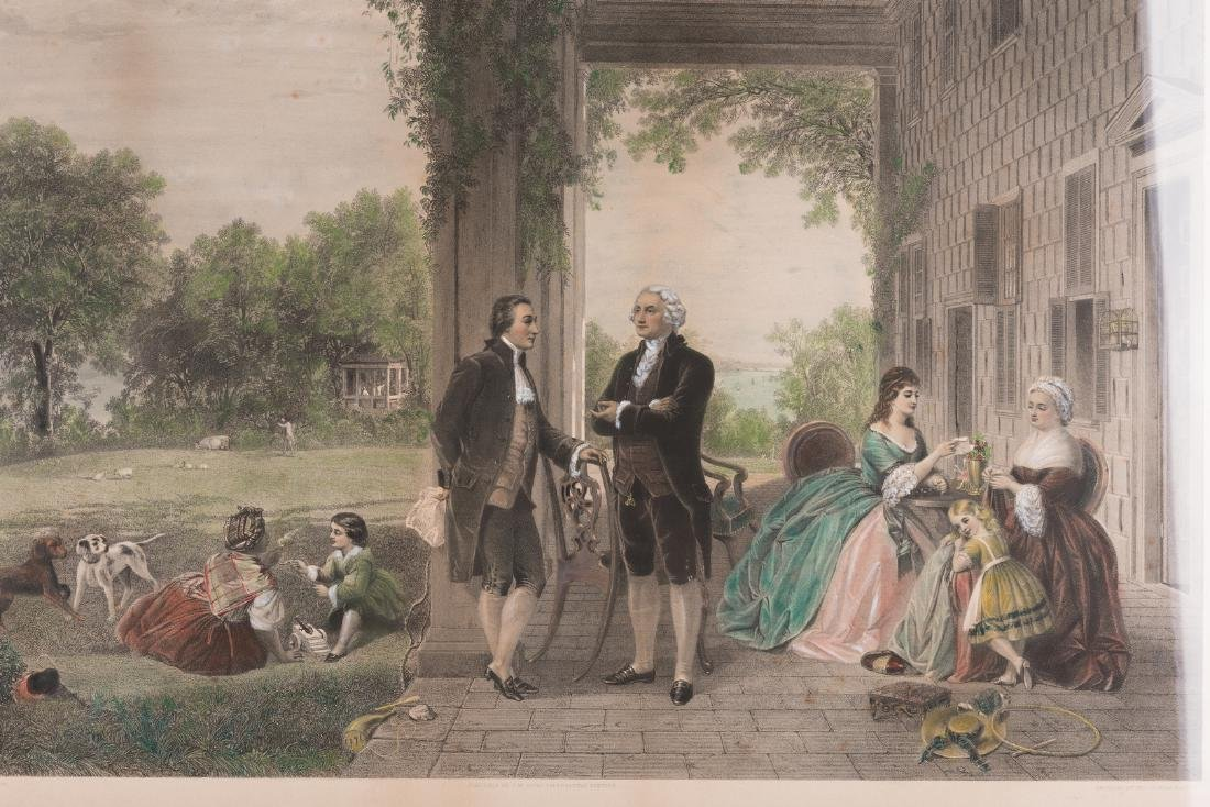 George Washington & Lafayette Colored Lithograph - 3