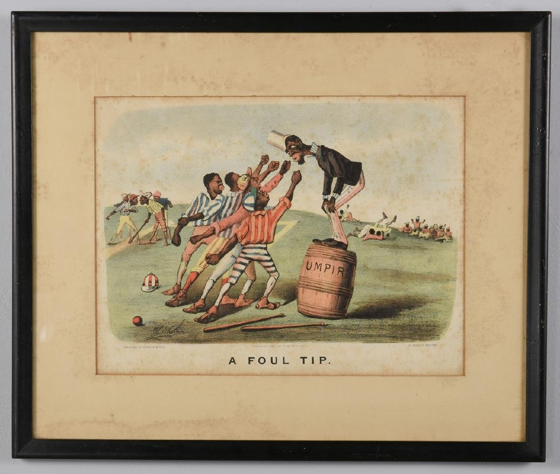2 Currier and Ives Black Americana Lithographs - 4