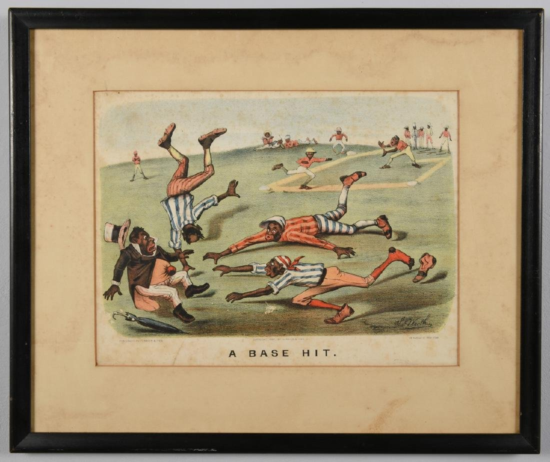 2 Currier and Ives Black Americana Lithographs - 8
