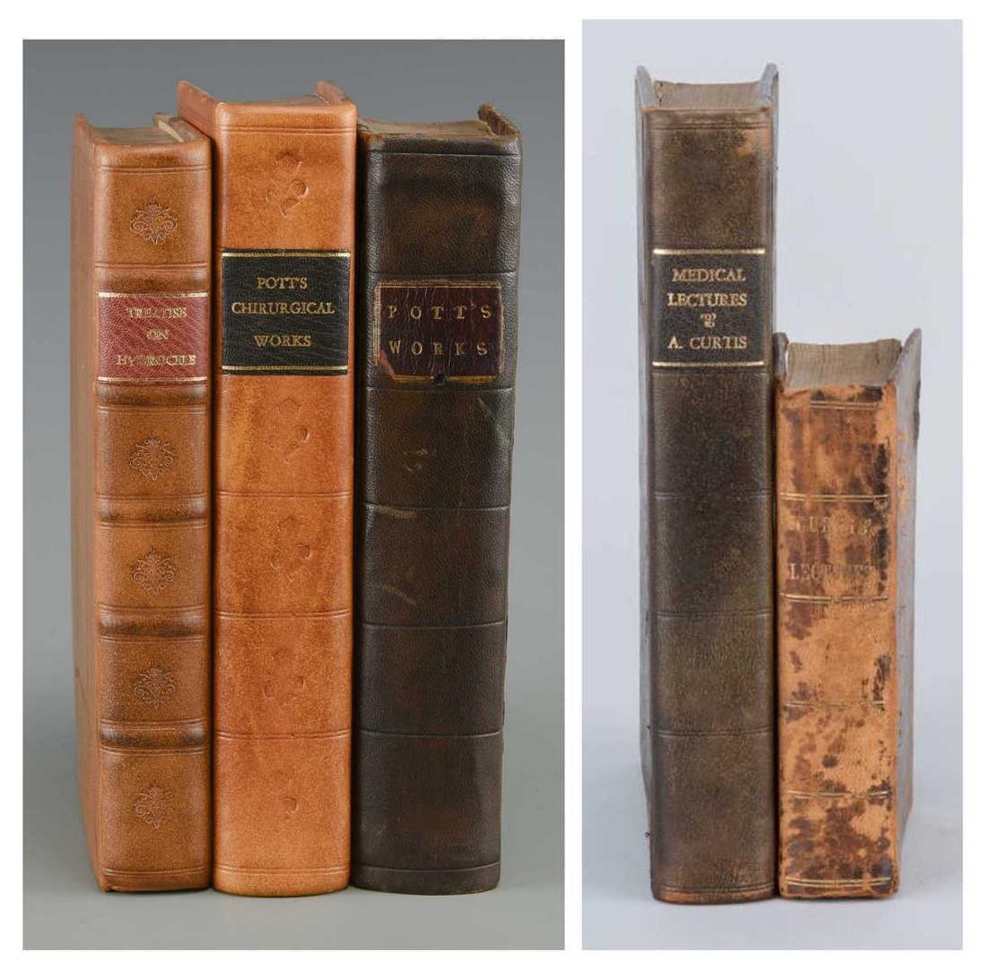 5 Medical Books, 3 Percivall Pott, 2 Curtis