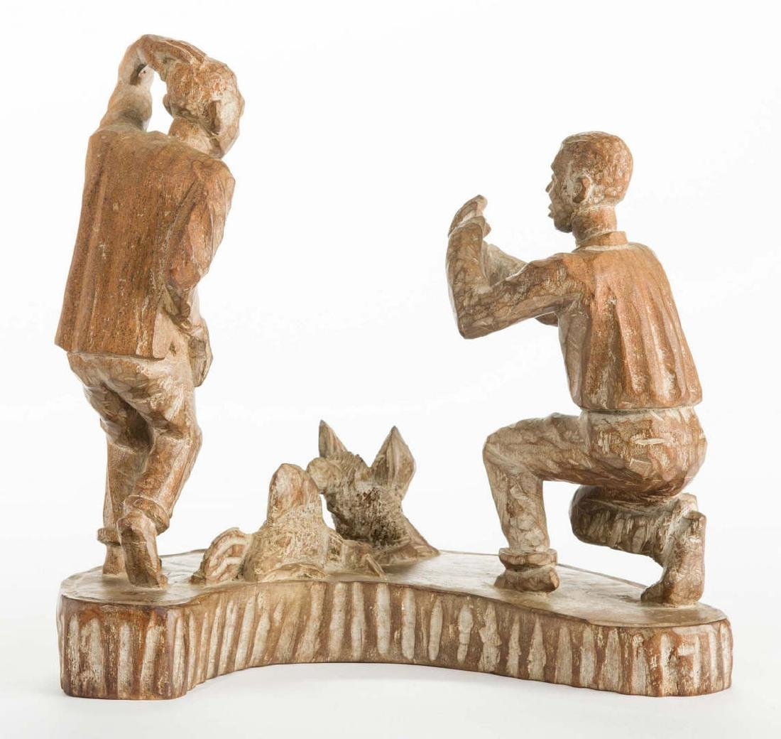 American Folk Art Carving, Cock Fighting - 3