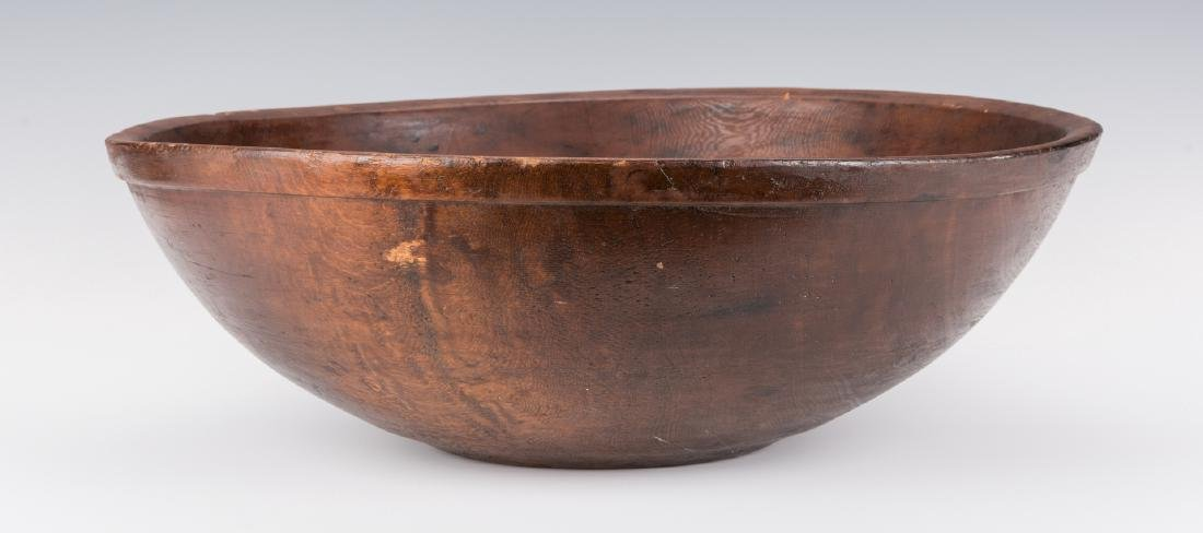 Large Turned Wooden Bowl, American - 2