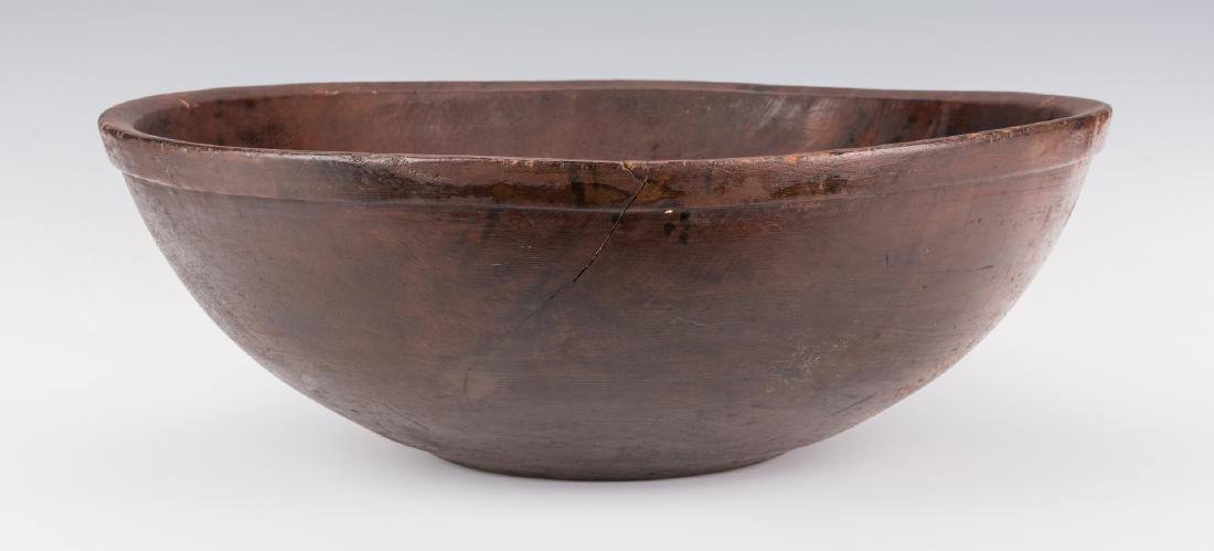 Large Turned Wooden Bowl, American - 3