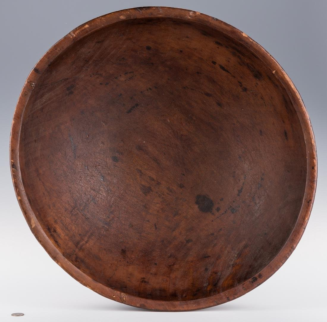 Large Turned Wooden Bowl, American - 4