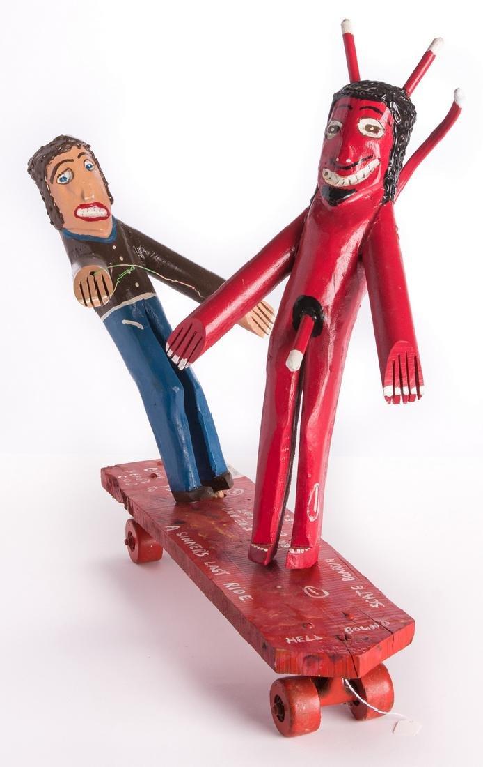 "3 R. Cooper Folk Artworks ""Scate Bordin to Hell"" - 2"