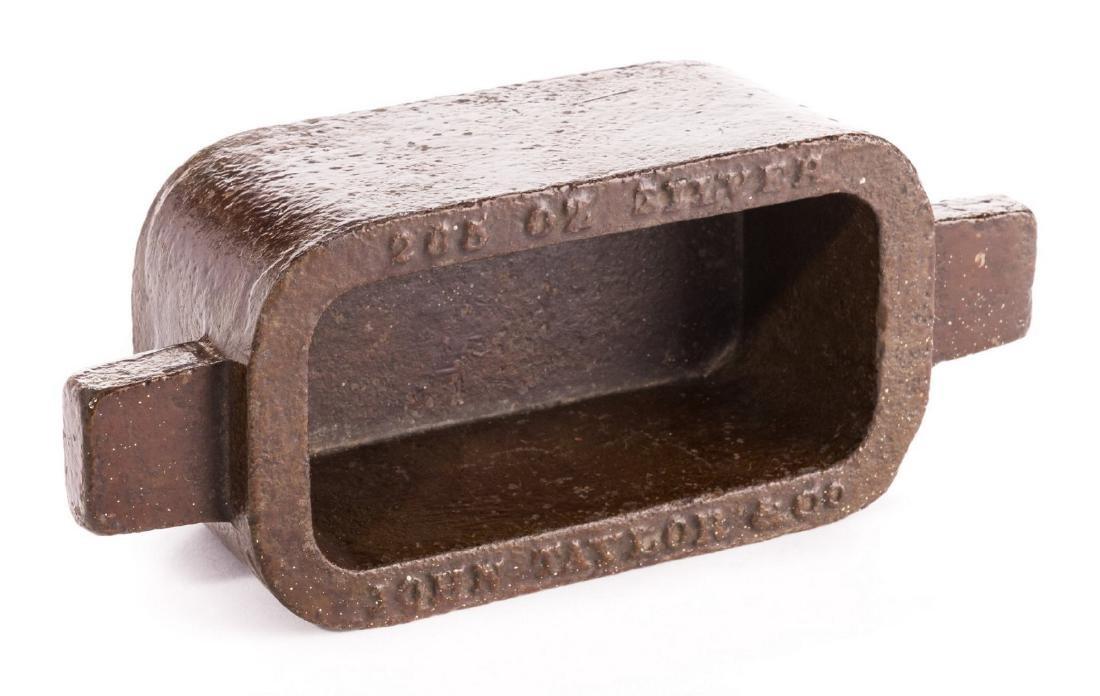 John Taylor & Co. Silver Ingot Mold - 5