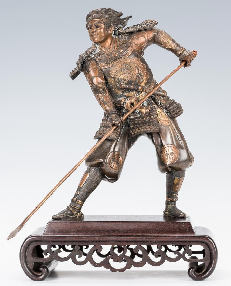 Meiji Bronze Warrior Figure