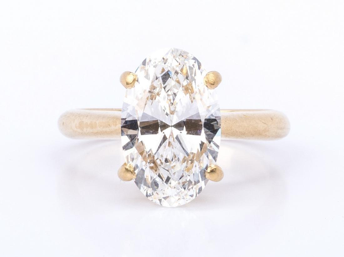 3.13 ct Oval Brilliant Diamond, GIA Report