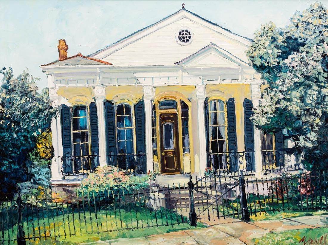 """James Michalopoulos Oil, """"Pristine at Prytania"""""""