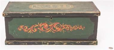 Folk Art Painted Box