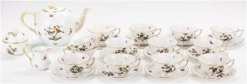 Herend Rothschild Bird Porcelain Tea Set 27 pcs