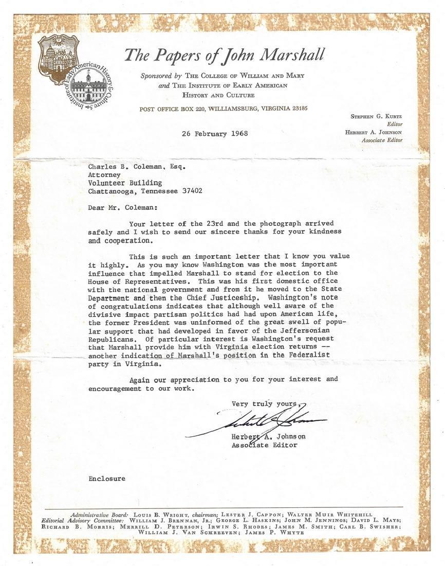 George Washington Signed Letter to John Marshall - 10