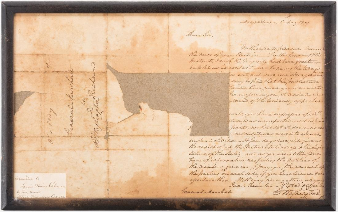 George Washington Signed Letter to John Marshall - 11