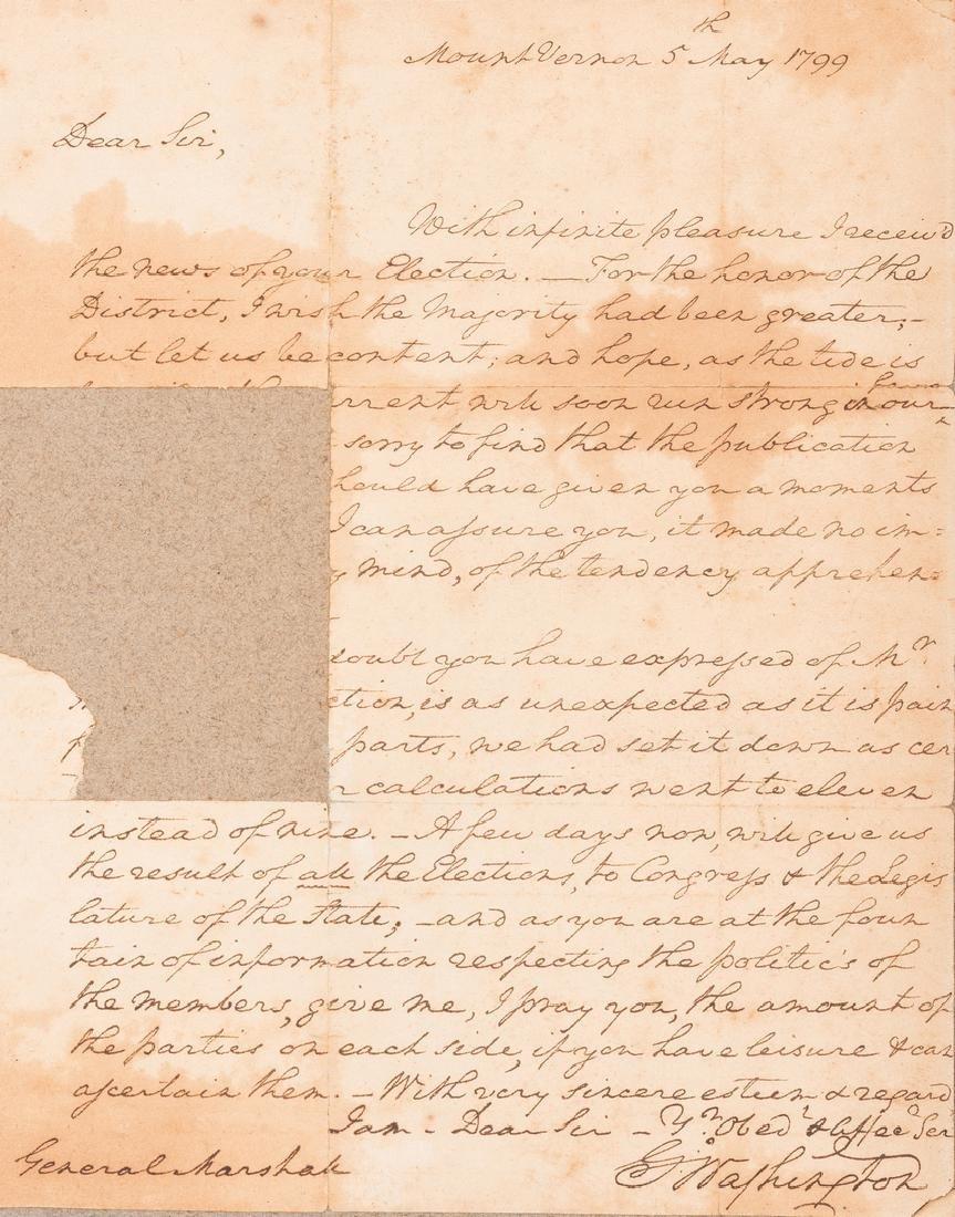 George Washington Signed Letter to John Marshall - 2