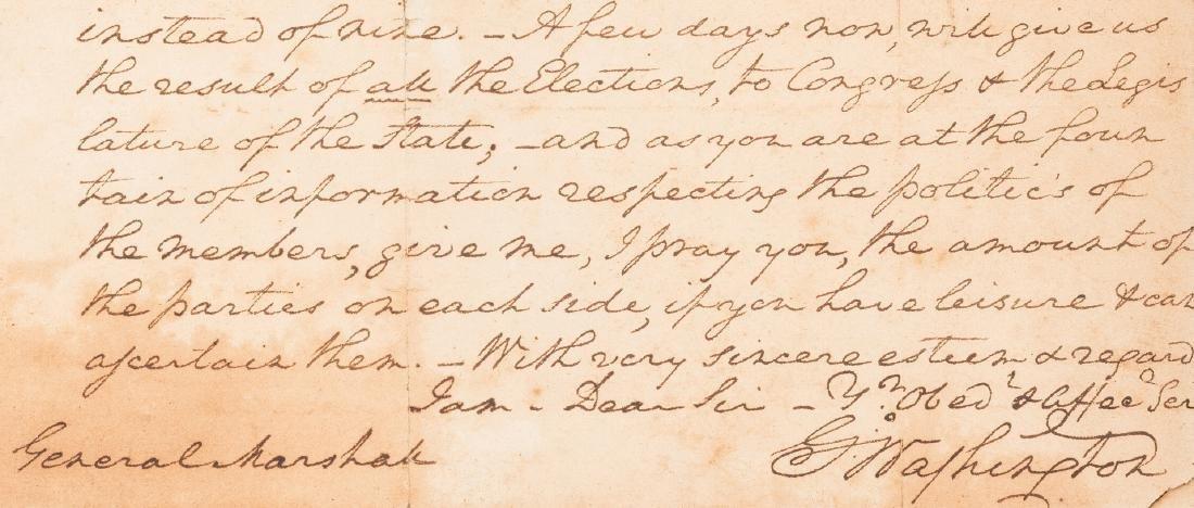 George Washington Signed Letter to John Marshall - 3
