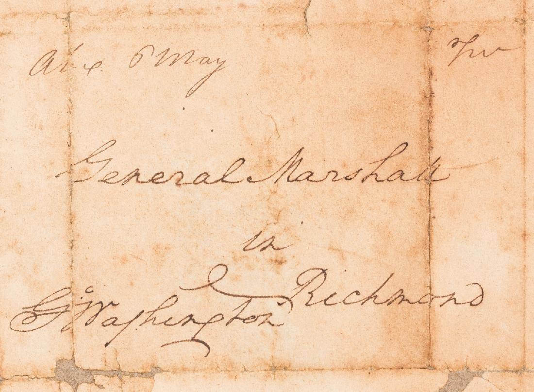 George Washington Signed Letter to John Marshall - 4