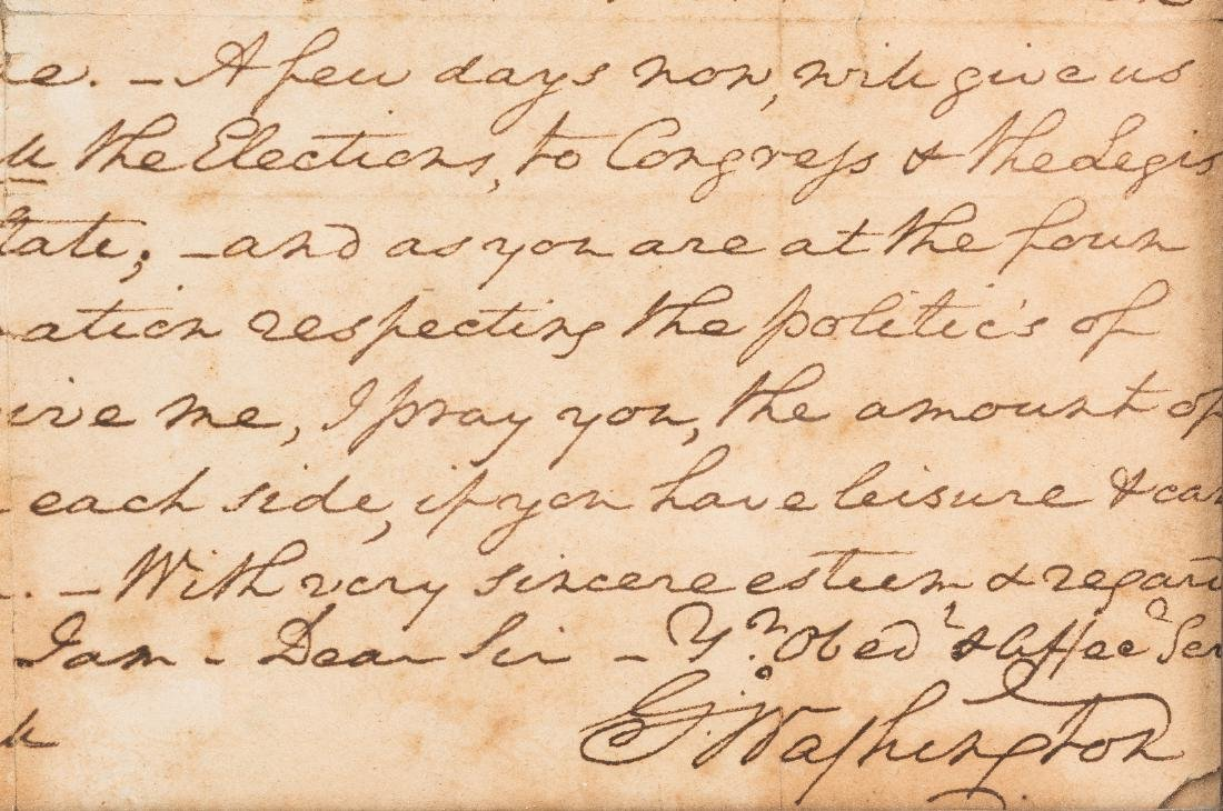 George Washington Signed Letter to John Marshall - 5