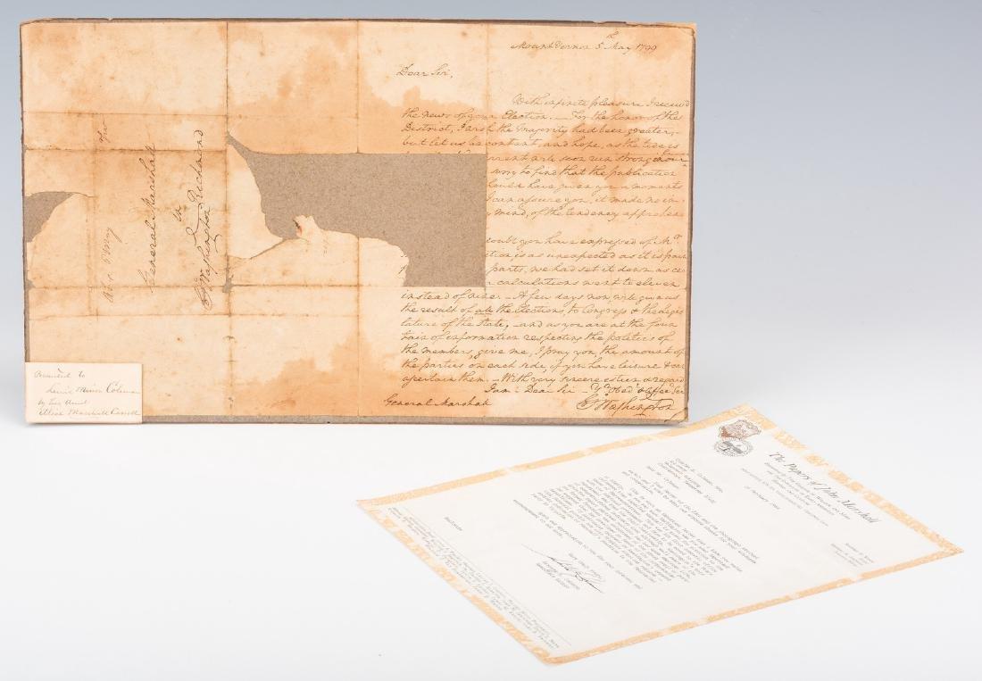 George Washington Signed Letter to John Marshall - 7