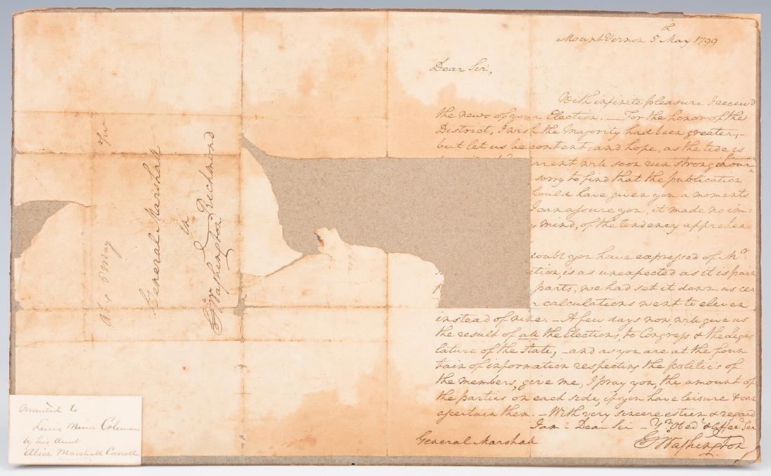 George Washington Signed Letter to John Marshall - 9