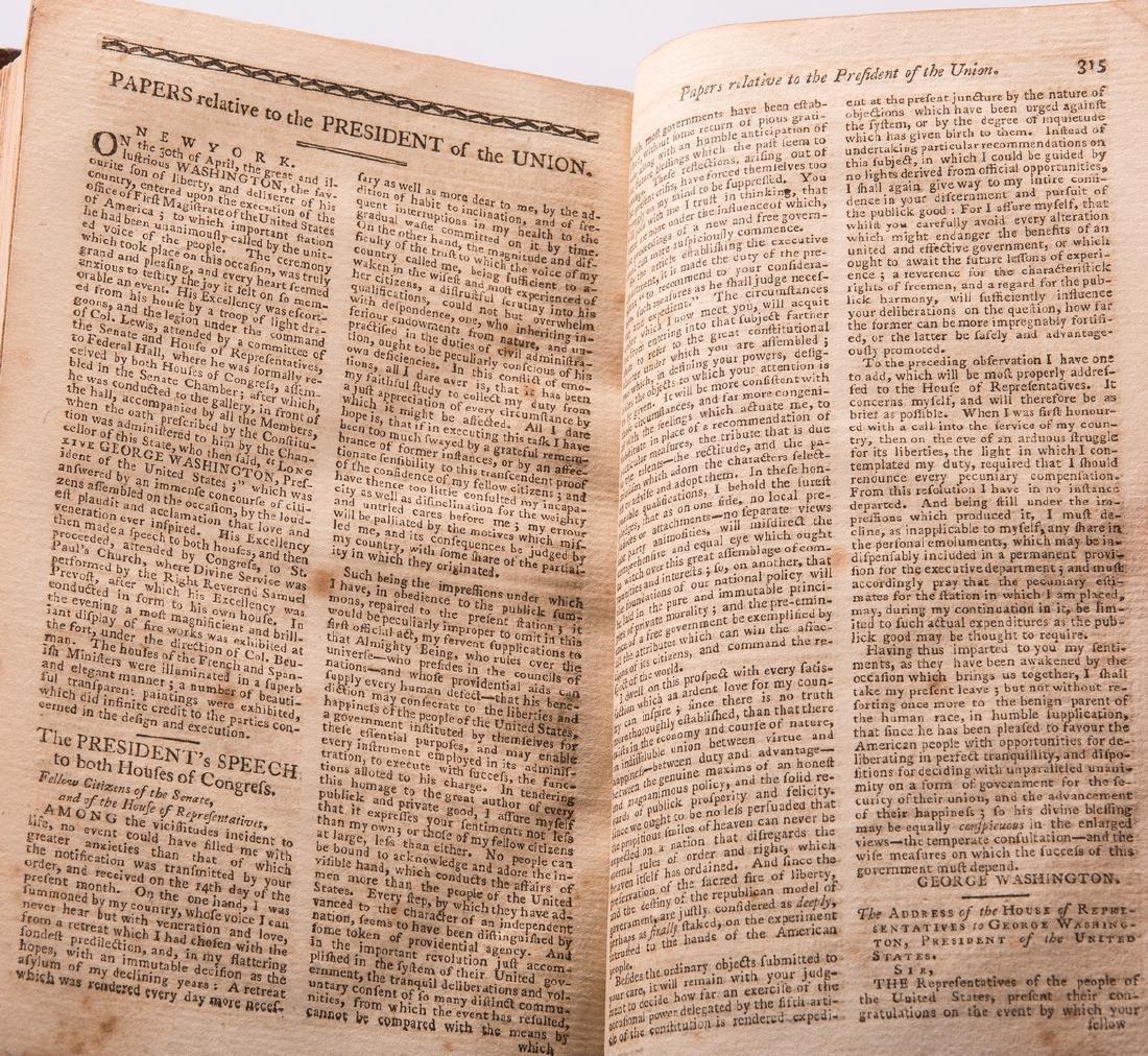 George Washington Signed Book w/ Bookplate - 13