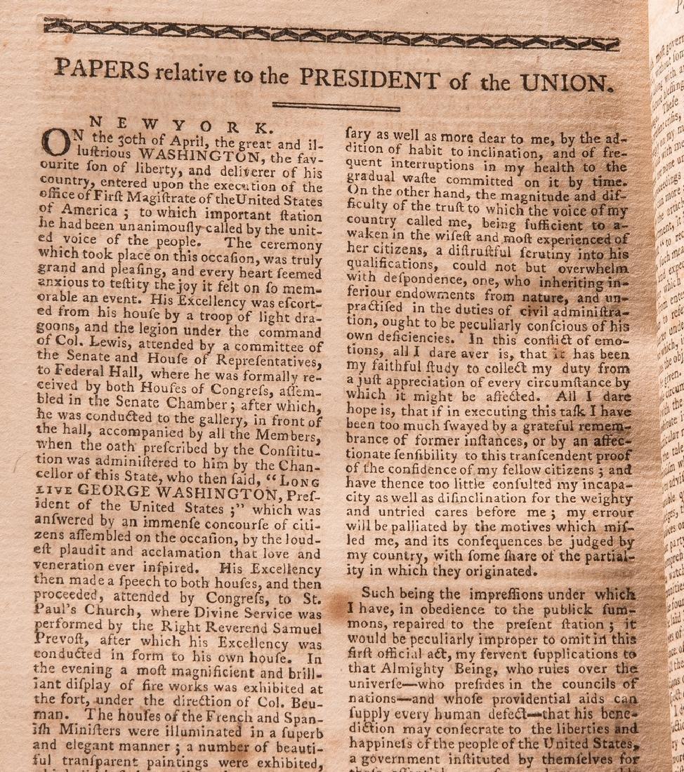George Washington Signed Book w/ Bookplate - 14