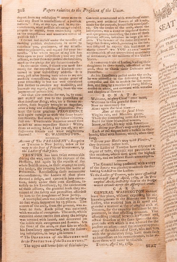 George Washington Signed Book w/ Bookplate - 15