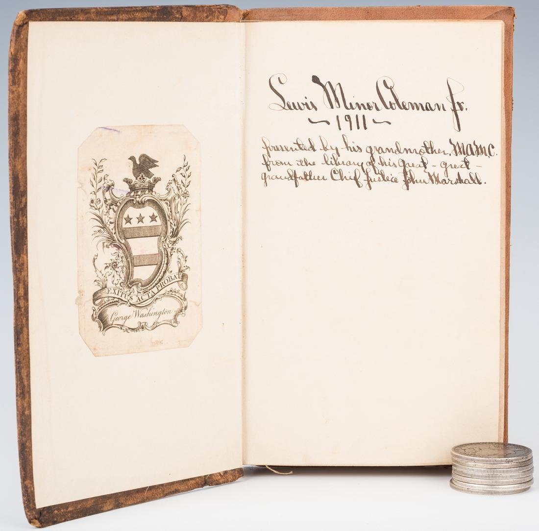 George Washington Signed Book w/ Bookplate - 5