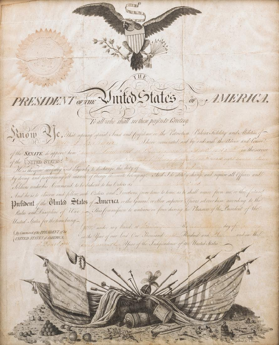 President Jefferson and Gen. Dearborn Signed Military - 2