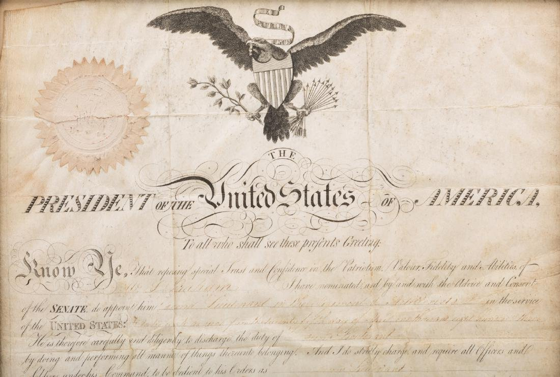 President Jefferson and Gen. Dearborn Signed Military - 3