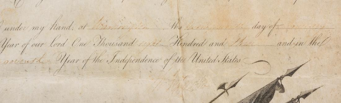 President Jefferson and Gen. Dearborn Signed Military - 5