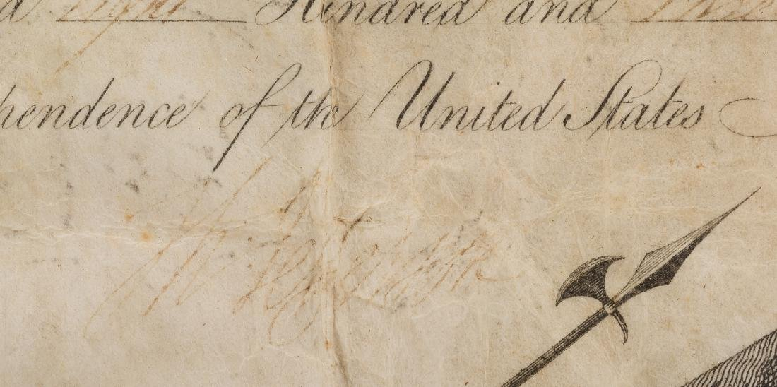 President Jefferson and Gen. Dearborn Signed Military - 6