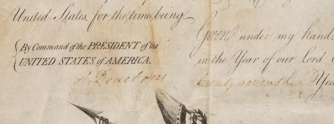President Jefferson and Gen. Dearborn Signed Military - 7