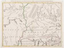 Western NC and Southern VA Map (after Mitchell, 1773)