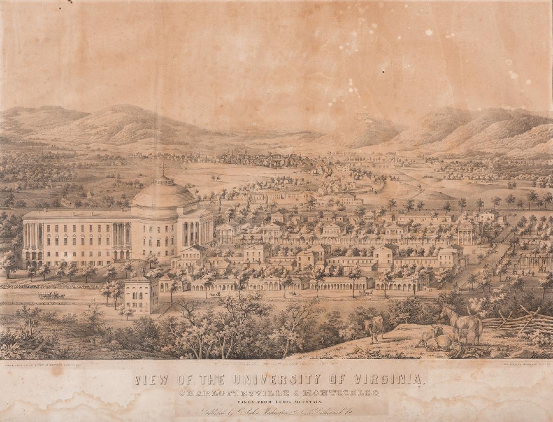 """View of the University of Virginia"" Panoramic Map"