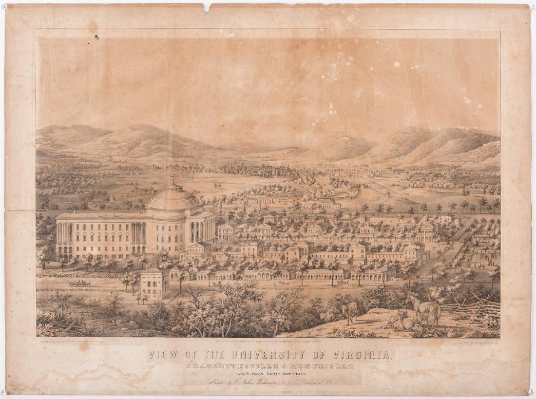 """View of the University of Virginia"" Panoramic Map - 2"