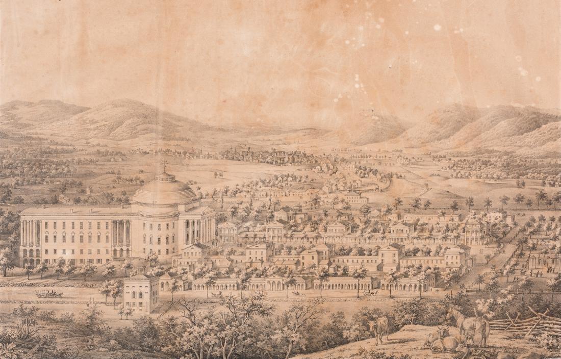 """View of the University of Virginia"" Panoramic Map - 3"