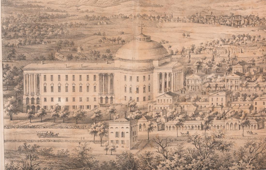 """View of the University of Virginia"" Panoramic Map - 4"