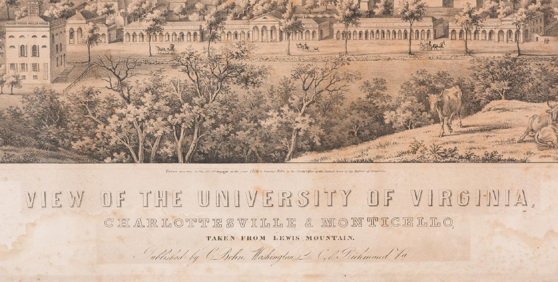 """View of the University of Virginia"" Panoramic Map - 5"