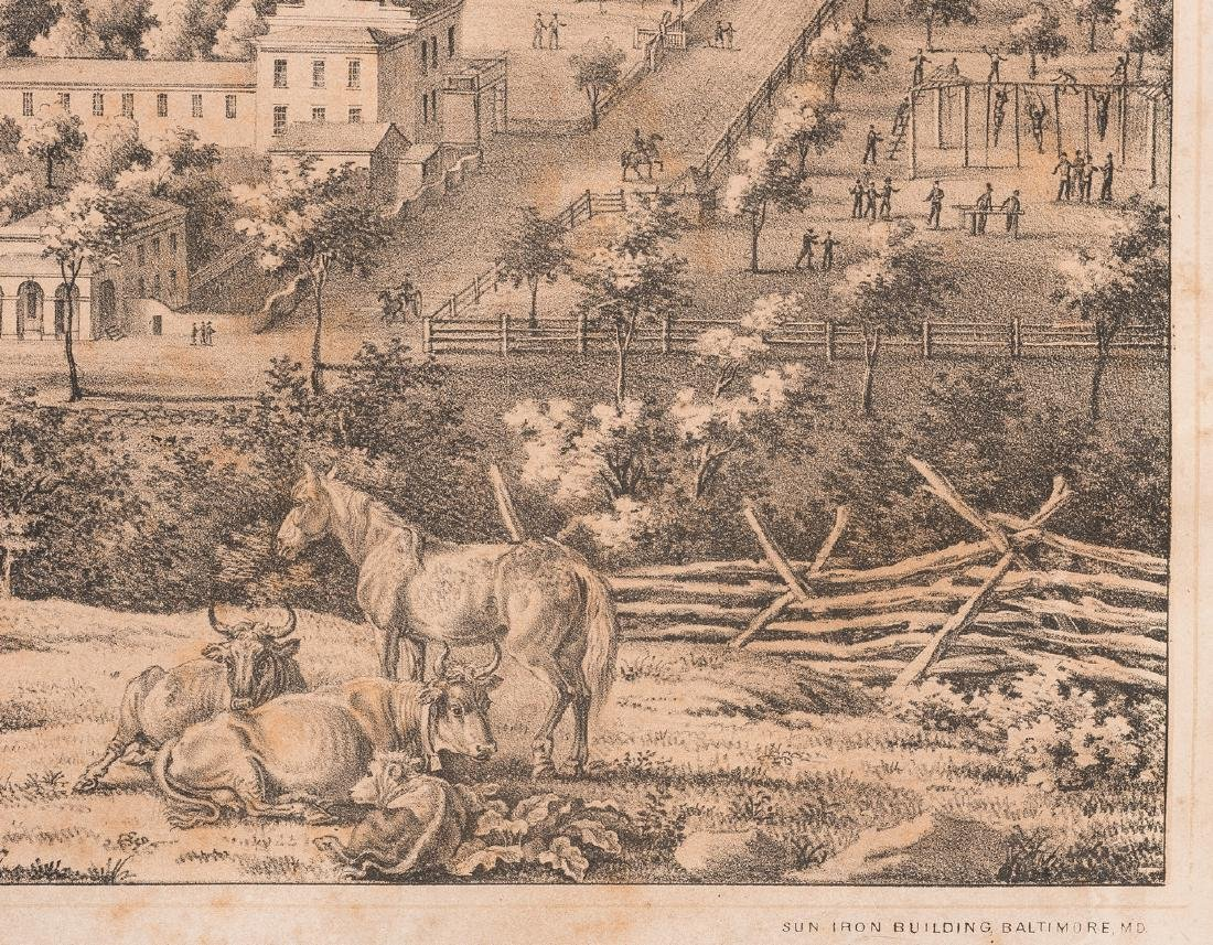 """View of the University of Virginia"" Panoramic Map - 6"