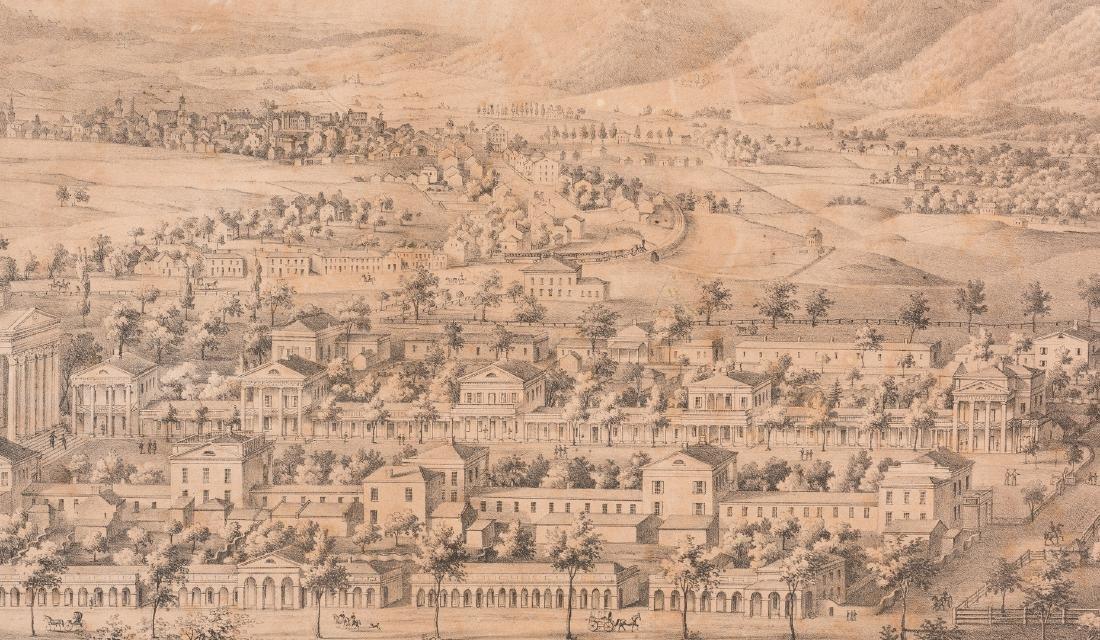 """View of the University of Virginia"" Panoramic Map - 7"