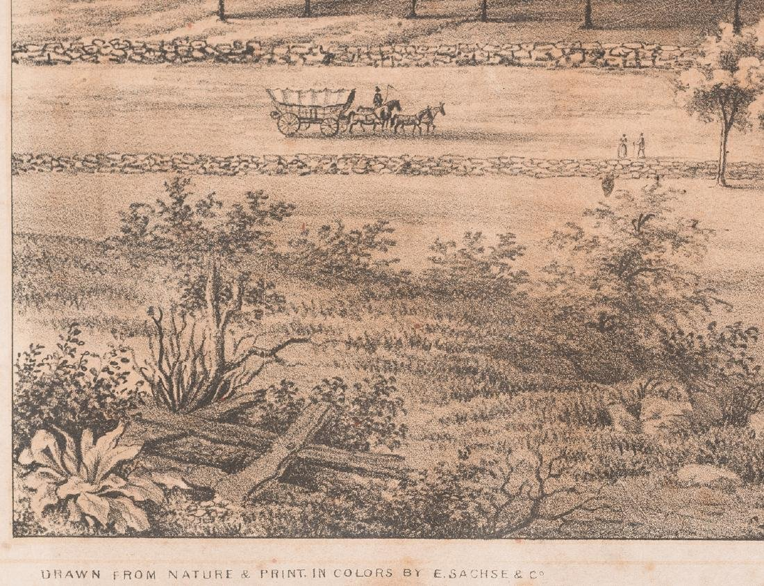 """View of the University of Virginia"" Panoramic Map - 8"