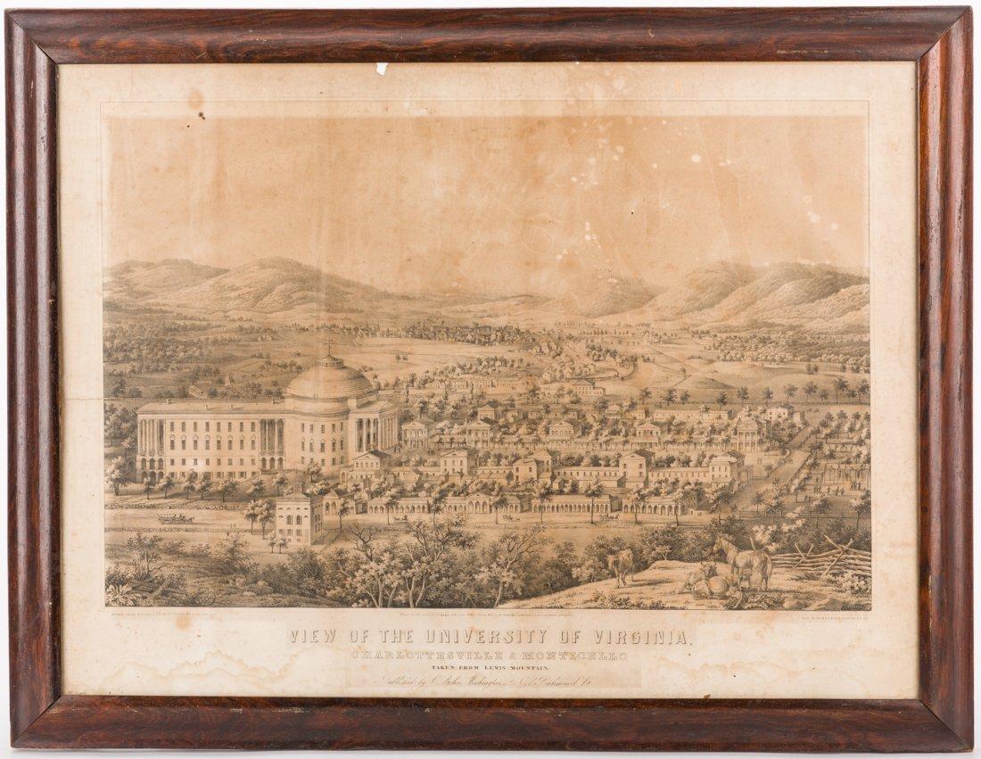 """View of the University of Virginia"" Panoramic Map - 9"
