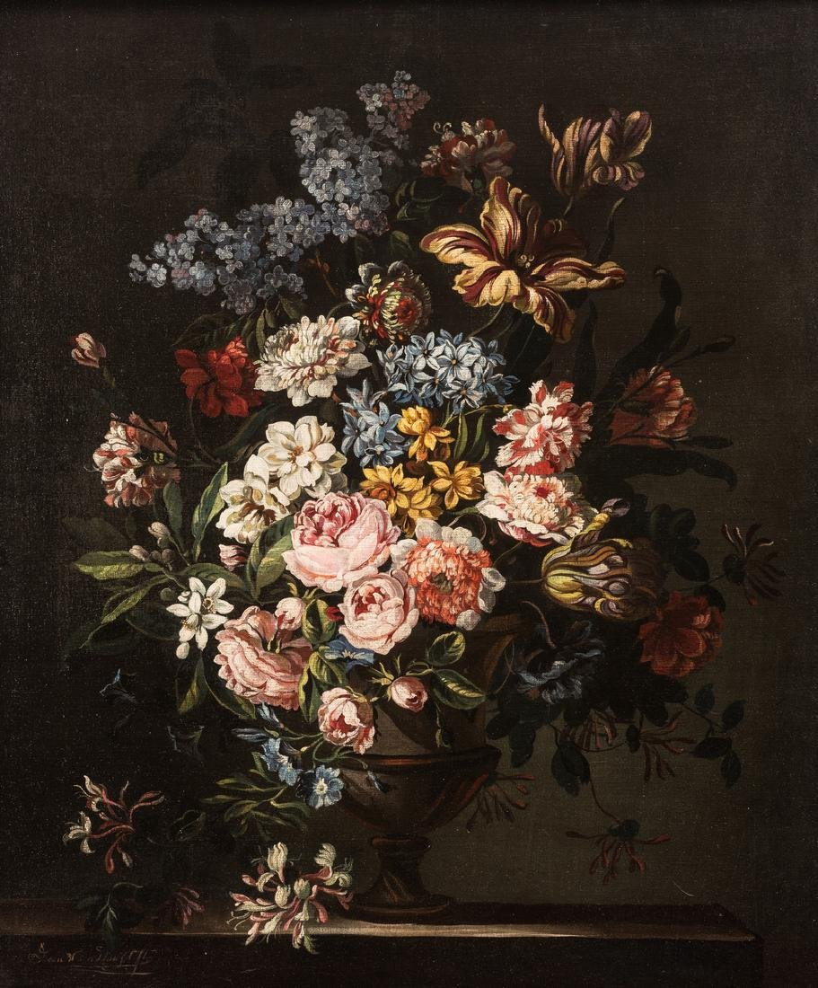 Jan Van Doust Dutch Oil on Canvas Still Life